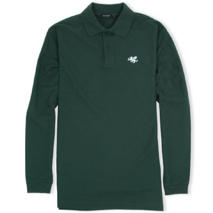 Senlak Long Sleeved Polo Shirt - Forest Green